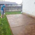 Stain Concrete Patio Chris Loves
