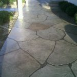 Stained Concrete Patio Patterns Native Home Garden