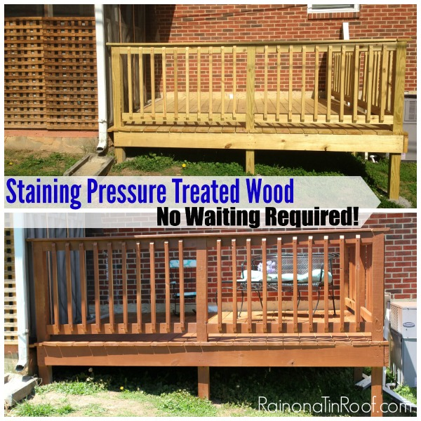 Staining Pressure Treated