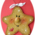 Star Christmas Ornament Hand Painted