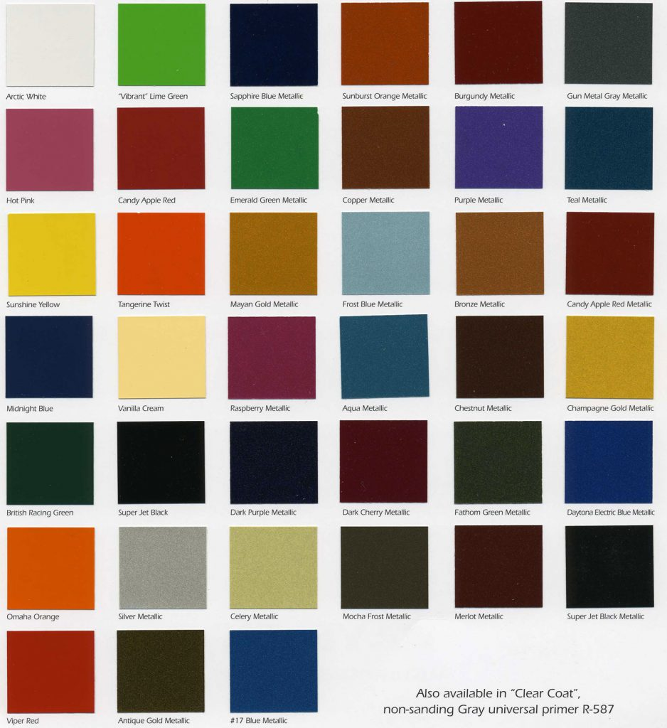 Starfire Automotive Finishes Color Chip Chart