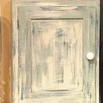 Steps Distressed Wood Cabinets
