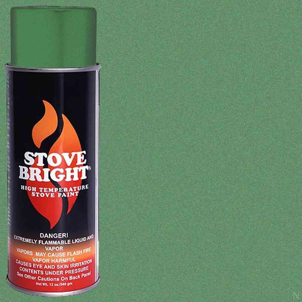 Stove Bright Fireplace High Temperature Spray Paint Green Illusion