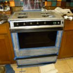 Stove Faux Stainless Steel