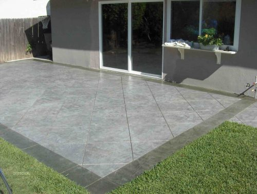 Stunning Concrete Paint Patio Painting Outdoor Decorate Exterior Decor