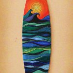 Surfboard Art Foot Original