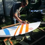 Surfboards Paint Picking Her New Model Performance Job Hand Painted Sale