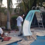 Swimming Pool Slide Refinish