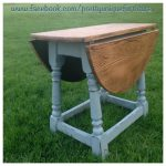 Swivel Top Drop Leaf Table Painted Annie Sloan Duck Egg