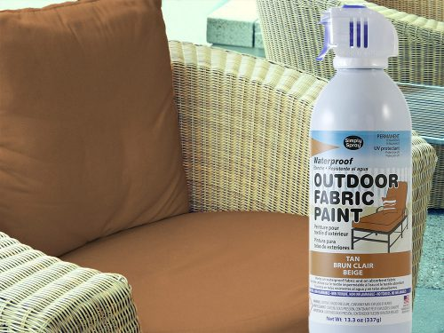 Tan Waterproof Outdoor Fabric Spray Paint Vinyl Seat Cushion Dying