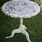 Tea Table Hand Painted Mosaic China Top