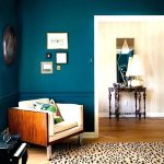 Teal Accent Wall Bedroom Design Feature Paint Painting Walls