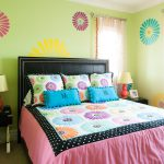 Teenage Girl Bedroom Modern Decor Also Yellow Wall Paint Leather