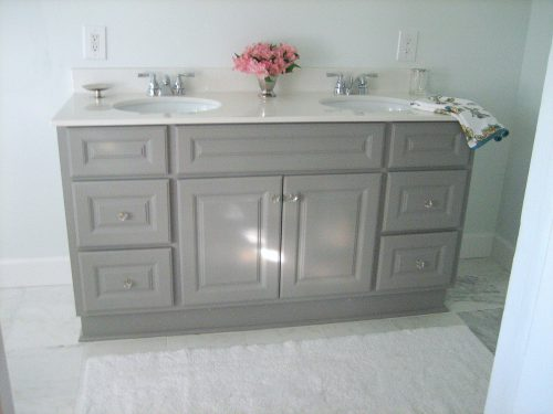 Ten June Diy Custom Painted Grey Builder Standard Bathroom