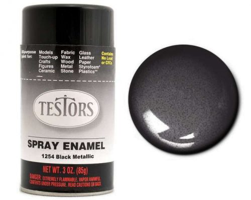 Testors Paint Enamel Black Metallic