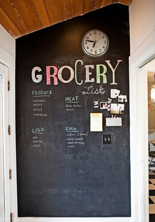 Thriftionary Chalkboard Painted Wall