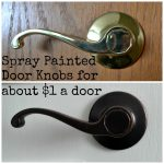 Thrifty Artsy Girl Diy Spray Painted Doorknobs Cheap Brass Expensive Oil Rubbed