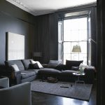 Townhouse Living Gray Room Paint Ideas Grey Painted