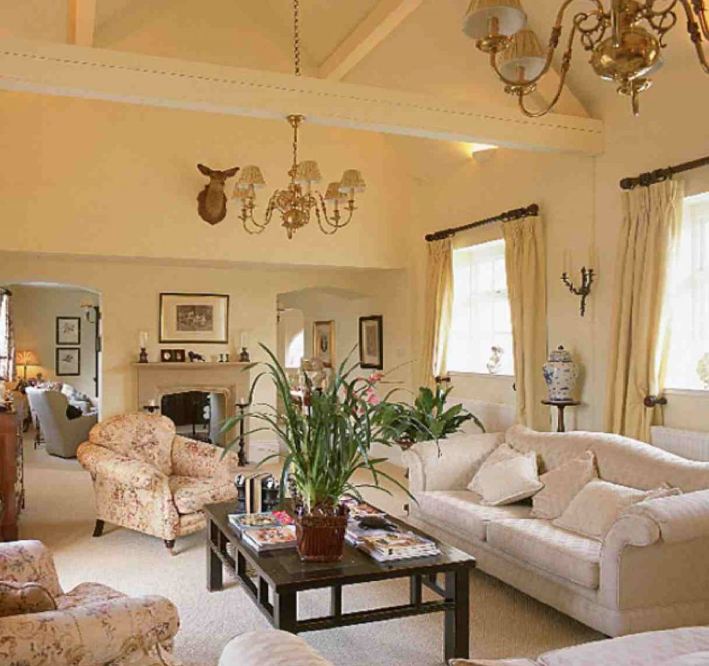 Traditional Sitting Room Beige Cream Color Paint Living Ideas