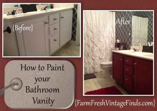 Transform Your Bathroom Vanity Farm Fresh Vintage