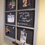 Transforming Old Window Frame Into Magnetic Chalkboard