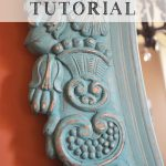 Tutorial Distressing Aging Furniture Mirrors Using Chalk Paint