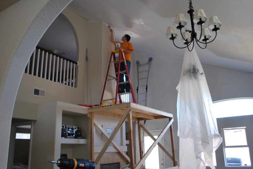 Two Crafty Housewives Painting Our Vaulted
