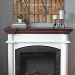 Two Tone Fireplace Makeover Love Grows