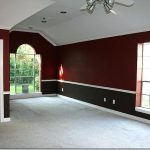 Two Toned Walls Bedroom Tone Living Room Red Black Home Decor