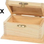 Unfinished Wood Treasure Chests Diy Wooden Craft Boxes Ready Paint Stain