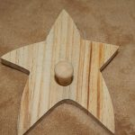 Unfinished Wood Wooden Star Peg Kids Room Wall Hook Ready Paint