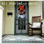 Using Porch Floor Paint Create Painted Rug Numbered