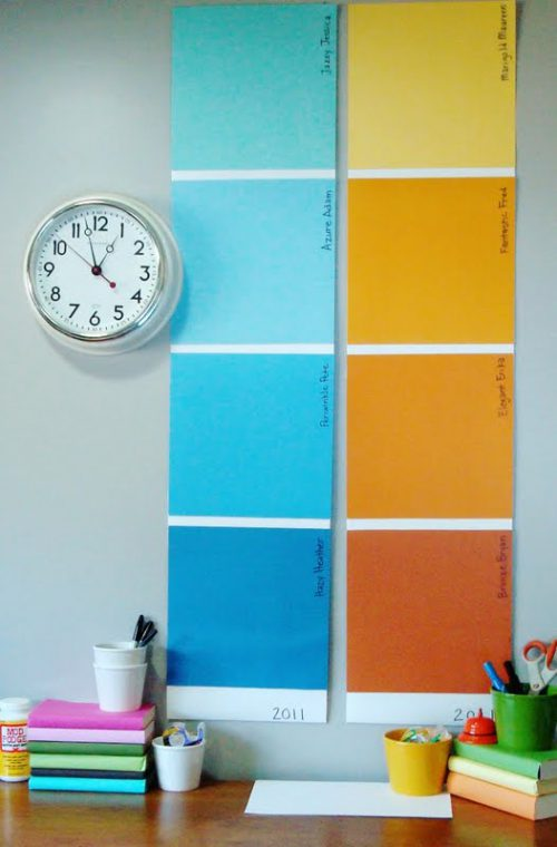 Very Heatherly Cheap Tricks Chic Chicks Paint Sample Wall