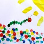 Very Hungry Caterpillar Finger Painting