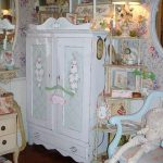 Vintage Cottage Painted Roses Armoire Chic Furniture