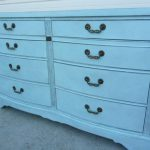 Vintage Dresser Hand Painted Robins Egg Blue Bow