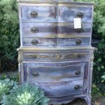 Vintage Dresser Painted Hand Shabby Chic
