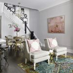 Vintage Living Room Ideas French Styled Chairs Soft Grey Paint Wall Color