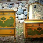 Vintage Shabby Hand Painted Dressers Anthro Styled Bedroom Wood Girls Cottage