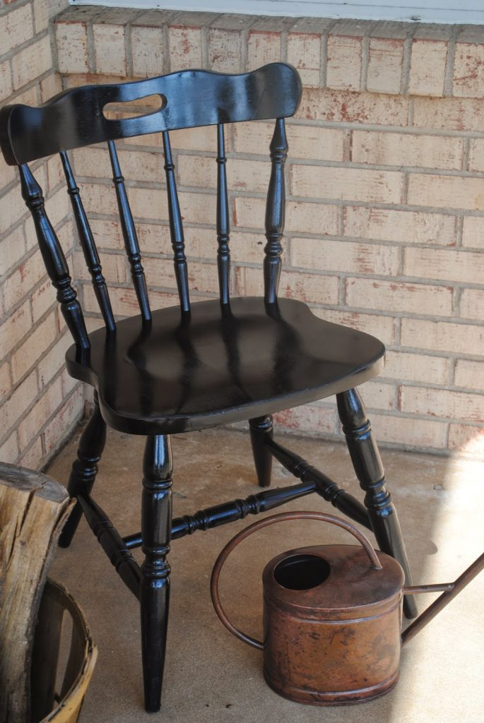 Vinyl Spray Paint Wood Chair Makeover Silhouette