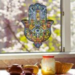 Vinyl Stained Glass Window Decals Diy Removable Hamsa
