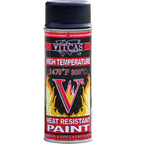 Vitcas High Temperature Black Spray Paint Wood Burning Stoves
