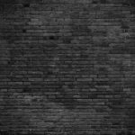 Wall Black Painted Bricks