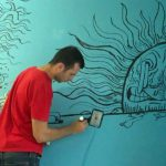 Wall Mural Using Decocolor Acrylic Paint Markers Dunkees