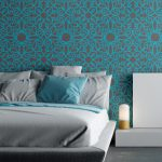 Wall Stencil Pattern Kalaat Allover Modern Painting Decor