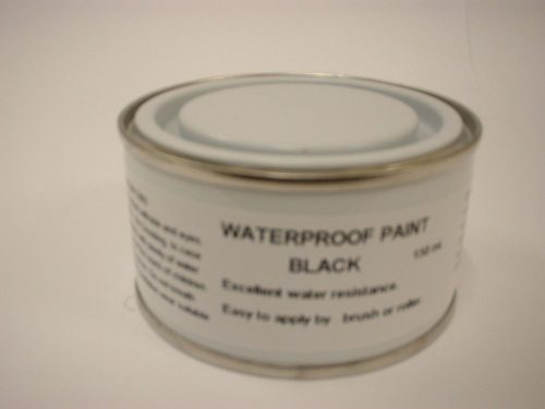 Waterproof Paint Black Brush Leaking Gutters Roofs Asbestos Wood Metal