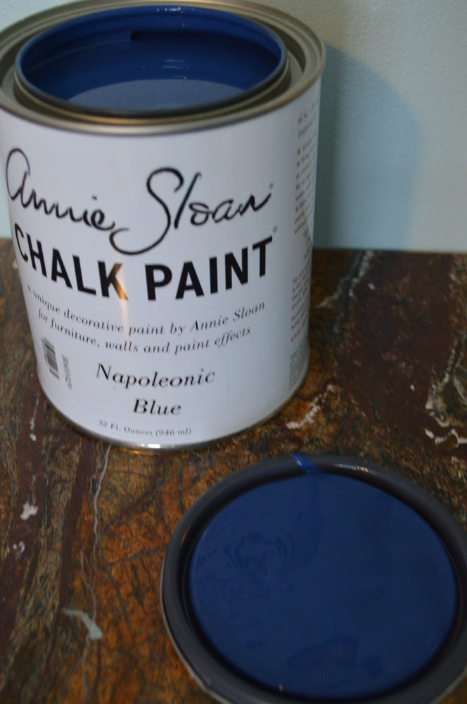 Wax Buy Any Color Annie Sloan Chalk Paint Napoleonic Blue Vtg Furniture