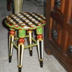 Whimsical Hand Painted Stool One Kind