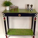 Whimsical Painted Furniture Console