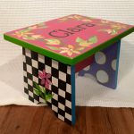 Whimsical Painted Furniture Personalized Step Stool